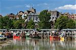 Pêche port sur la rivière Rother, vieille ville, Rye, East Sussex England, Royaume-Uni, Europe