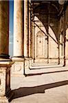 Colonnade, la mosquée de Mohammed Ali, citadelle de Saladin, le Caire, Egypte