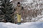 Boy Snowshoeing, La Foux d'Allos, Allos, France