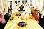 Children celebrating a birthday party