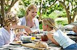 Famille de produits alimentaires à l'avant ou l'arrière cour