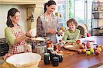 Famille de génération multi cuisson des aliments à la cuisine