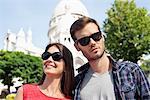 Close-up of a couple, Montmartre, Paris, Ile-de-France, France