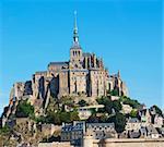 Panorama le Mont Saint Michel. Normandy, France