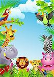 Animal cartoon illustration