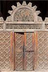 """A doorway in """"Ali Ben Youssuf"""" Madressa (Koranic school) at Marrakech. Morocco."""