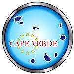 Vector Illustration for Cape Verde, Round Button.