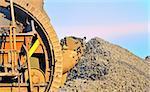 bucket wheel excavator for digging the brown coal