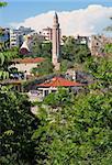 Turkey. Antalya town. Yivli minaret in spring