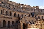 In the roman theater in El-Jem, Tunisia