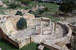 Ruins of old roman villa in Carthage, Tunisia