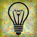 Illustration of light bulbs as a creative background.