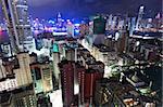 Hong Kong downtown city at night