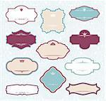set of royal decorative frames vector illustration