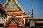 elements of Wat Pho temple in Bangkok