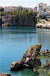 Turkey. Antalya town. Harbor. Ancient Antalya sea view