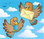 Bird theme image 2 - vector illustration.
