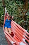 Frau in Hängematte, Paraty, Rio De Janeiro, Brasilien