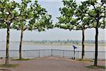 Rhine River Promenade, Dusseldorf, North Rhine Westphalia, Germany