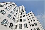 Neuer Zollhof Building, Media Harbour, Dusseldorf, North Rhine Westphalia, Germany