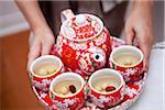 Tee-Service als Teil der chinesischen Hochzeitszeremonie