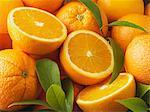 Close up of sliced oranges