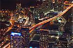 Vue aérienne de Toronto illuminé la nuit