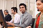 Portrait of a call center agent