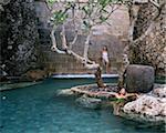 Spa pool at The Four Seasons Resort, Jimbaran, Bali, Indonesia, Southeast Asia, Asia
