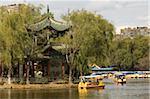 Boating in Green Lake Park, Kunming, Yunnan, China, Asia
