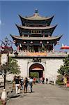Wuhua tower, Old town, Dali, Yunnan, China, Asia
