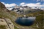 Lac Schwarzsee près de Zermatt, Valais, Grisons, Suisse, Europe