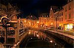 Old town, River Leuk at Buttermarkt, Saarburg, Saar Valley, Rhineland-Palatinate, Germany, Europe