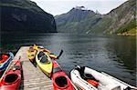 Fjord de Geiranger, l'UNESCO patrimoine de l'humanité, plus d'og Romsdal, Norvège, Scandinavie, Europe