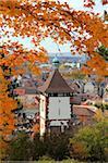 Automne au Schlossberg, Schwabentor, Fribourg, Bade-Wurtemberg, Allemagne, Europe