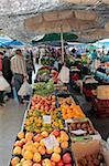 Market at Pollenca, Mallorca, Balearic Islands, Spain, Europe