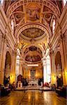 Interior, Gozo Cathedral, Rabat (Victoria), Gozo, Malta, Europe