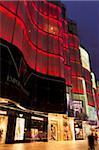 Magasin chinois avant de néon, Wanfujing Dajie, centre de Pékin, Chine, Asie