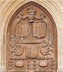 Detail of Bath Abbey door, Bath, UNESCO World Heritage Site, Somerset, England, United Kingdom, Europe