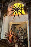 Our Miraculous Lady of Geras, Madonna above altar of Baroque Parish Church, Geras Premonstrian Abbey, Geras, Niederosterreich, Austria, Europe