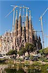 La Sagrada Familia by Antoni Gaudi, UNESCO World Heritage Site, Barcelona, Catalonia, Spain, Europe