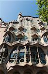 Casa Batllo by Antoni Gaudi, UNESCO World Heritage Site, Passeig de Gracia, Barcelona, Spain, Europe