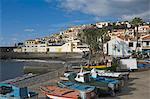 The fishing village of Camara de Lobos, a favourite of Sir Winston Churchill, Madeira, Portugal, Atlantic, Europe