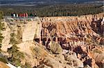 Touristen am Viewppoint, Bryce Canyon Nationalpark, Utah, Vereinigte Staaten von Amerika, Nordamerika