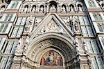 Façade de la cathédrale Santa Maria del Fiore (Duomo), patrimoine mondial de l'UNESCO, Florence, Toscane, Italie, Europe
