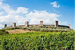 Monteriggioni, province de Sienne, Toscane, Italie, Europe