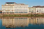 Lungarno Corsini et le fleuve Arno, Florence, UNESCO World Heritage Site, Toscane, Italie, Europe