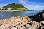 Main Beach à Mount Maunganui, ville de Tauranga, North Island, New Zealand, Pacifique