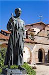 Statue of Father Junipero Serra outside Mission San Antonio, Monterey County, California, United States of America, North America
