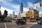 Scène de rue, Robson Street, Downtown, Vancouver, Colombie-Britannique, Canada, Amérique du Nord